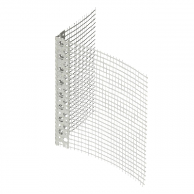 Профіль ПВХ фасадний з сіткою, 7х7 см, 2,5 м