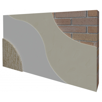 Система обробки фасаду з мінеральною декоративною штукатуркою