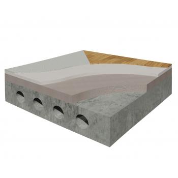 Система влаштування підлоги під покриття паркетом, ламінатом