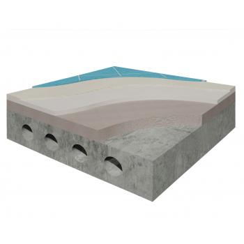 Система влаштування підлоги під облицювання плиткою