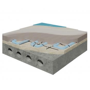 Система влаштування теплої підлоги під облицювання плиткою