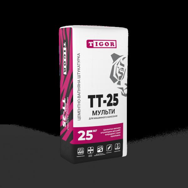 Цементно-вапняна штукатурка ТТ-25 МУЛЬТИ